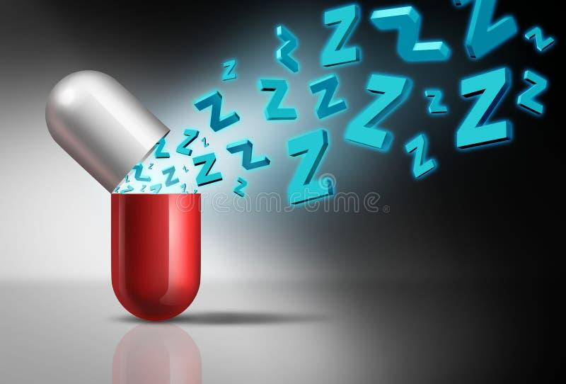 Símbolo del somnífero ilustración del vector