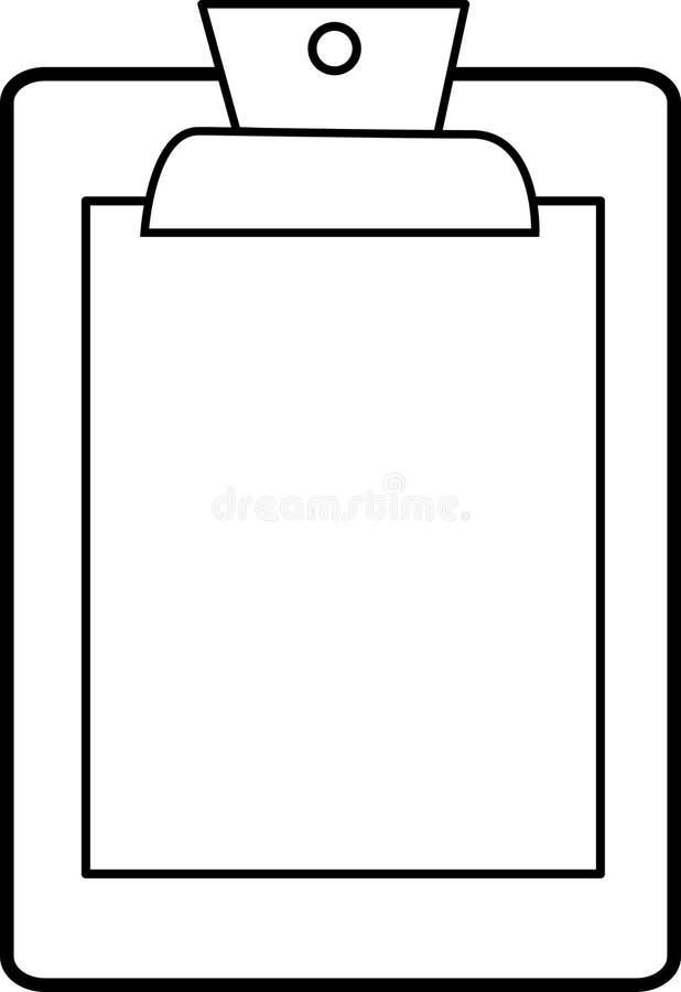 Símbolo del sujetapapeles stock de ilustración