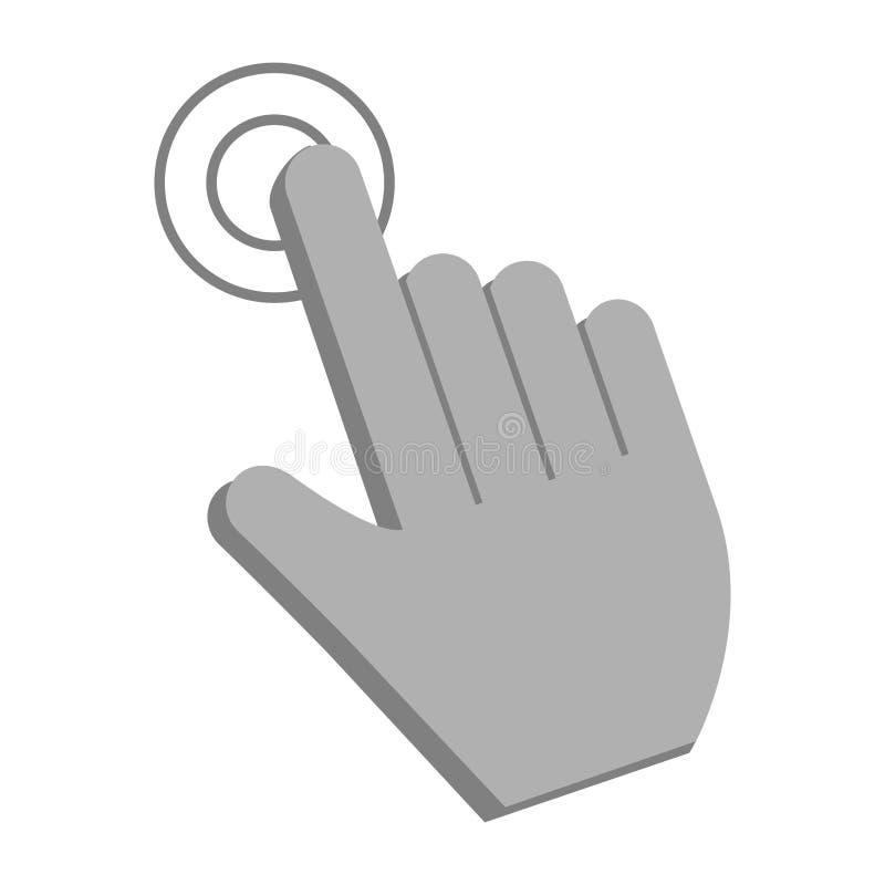 Símbolo del tacto del cursor del tecleo ilustración del vector