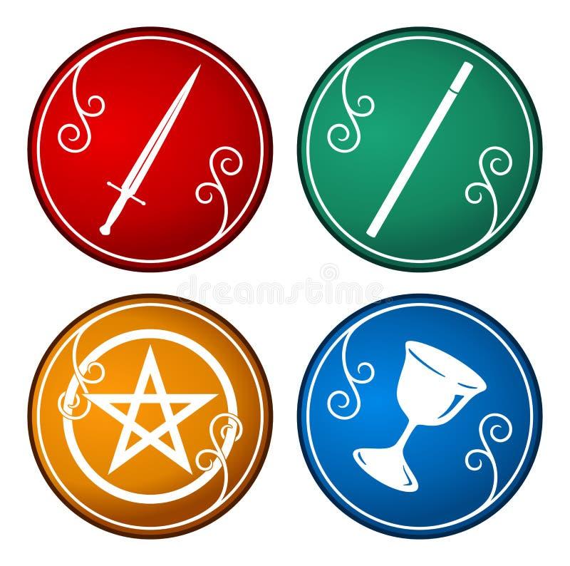 Símbolo del tarot ilustración del vector