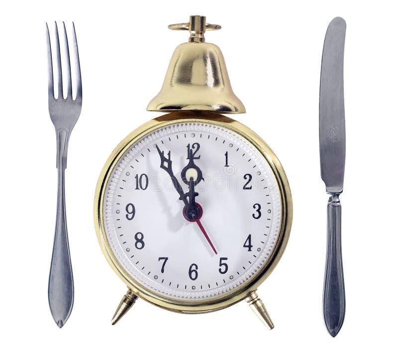 Símbolo del tiempo del almuerzo fotos de archivo libres de regalías