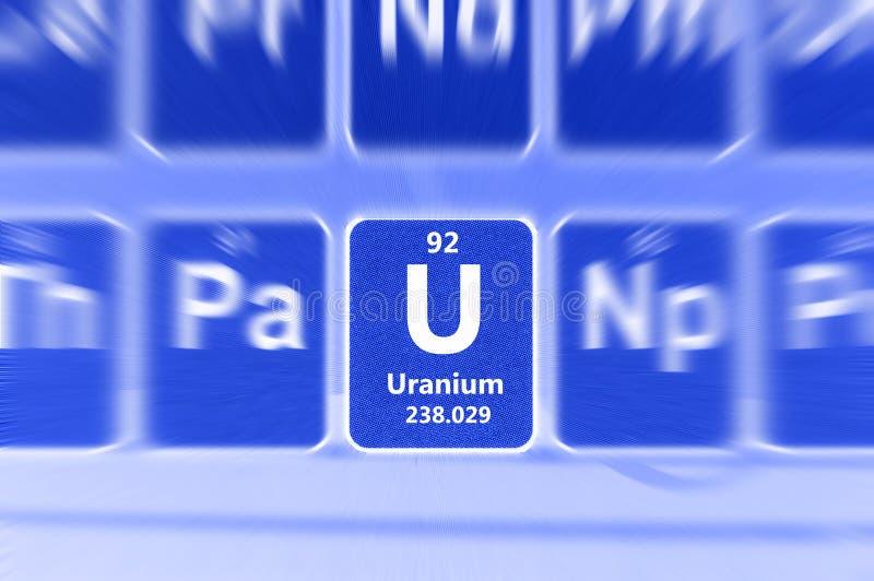 Símbolo del uranio foto de archivo libre de regalías