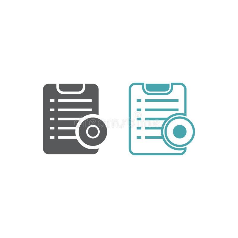 Símbolo del vector de la forma del contrato con la prensa libre illustration