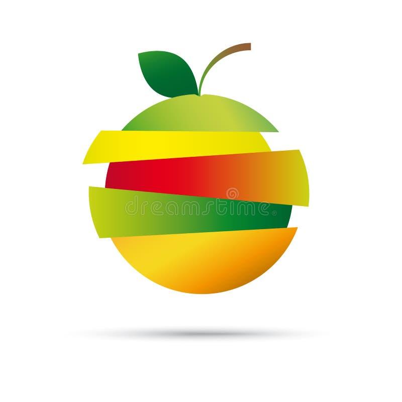 Símbolo del vector de la fruta fresca ilustración del vector