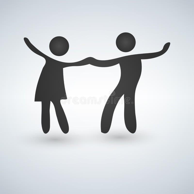 Símbolo del vector de un par del baile libre illustration