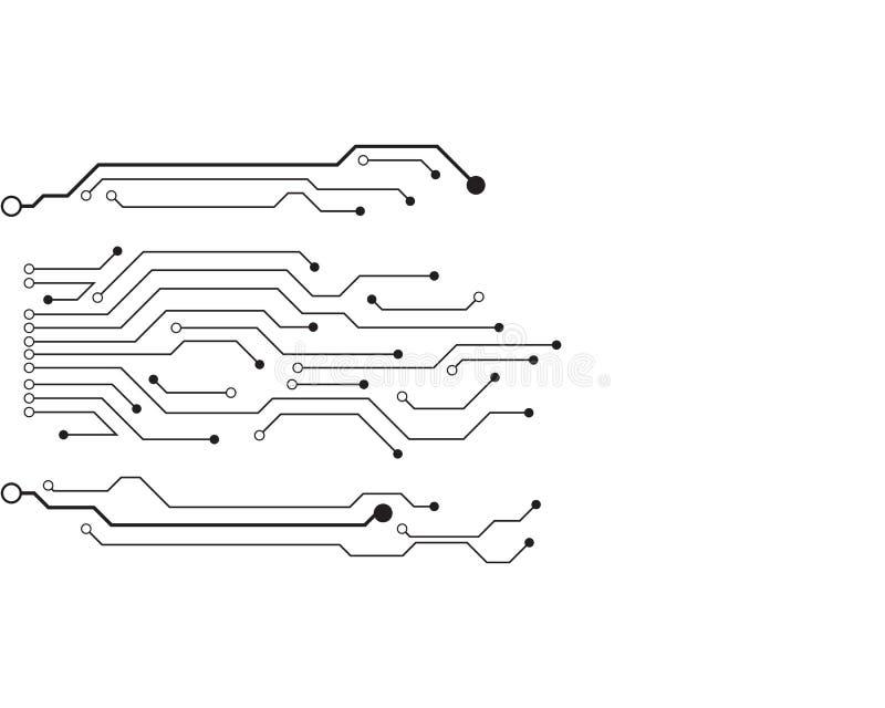Símbolo del vector del diseño del ejemplo del circuito ilustración del vector