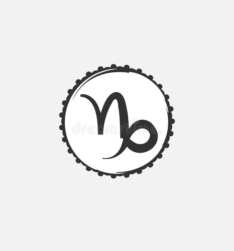 Símbolo del zodiaco del Capricornio Predecir el futuro con las muestras del zodiaco stock de ilustración