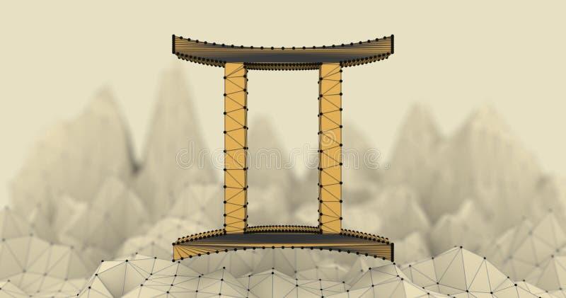 Símbolo del zodiaco de los géminis stock de ilustración