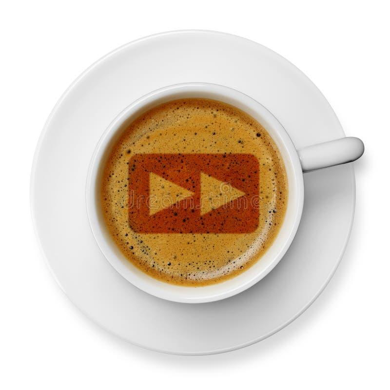 Símbolo delantero rápido en el café imagen de archivo libre de regalías