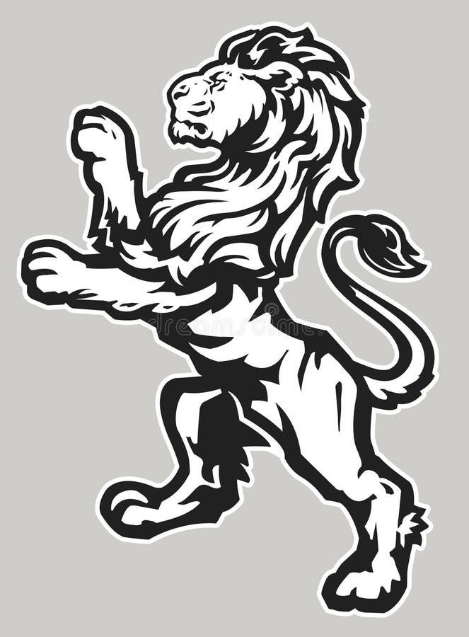 Leão orgulhoso ereto ilustração stock