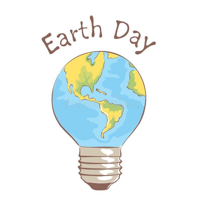 Símbolo - Dia da Terra ilustração royalty free