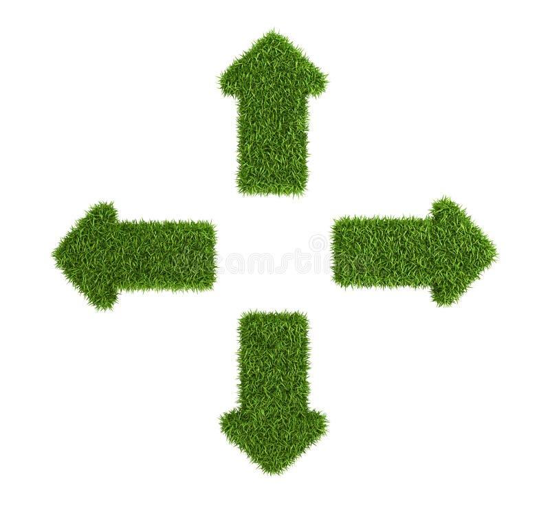 Símbolo divergente de las flechas de la hierba imagen de archivo