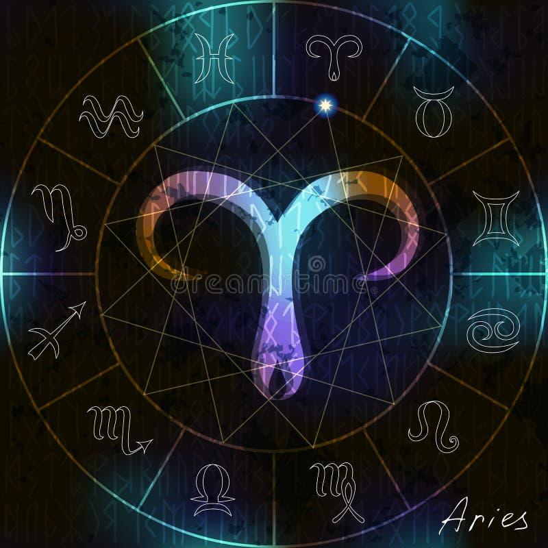 Símbolo do Áries ilustração royalty free