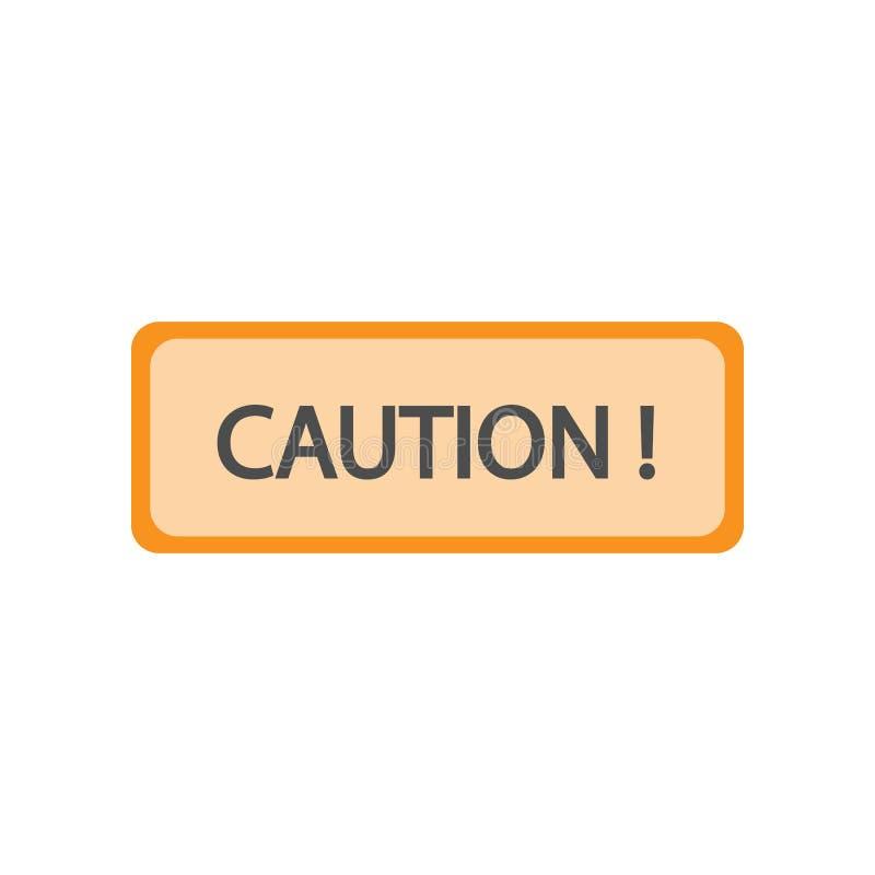 símbolo do ícone colorido atenção Elemento do sinal colorido da construção para apps móveis do conceito e da Web Símbolo da cor d ilustração do vetor