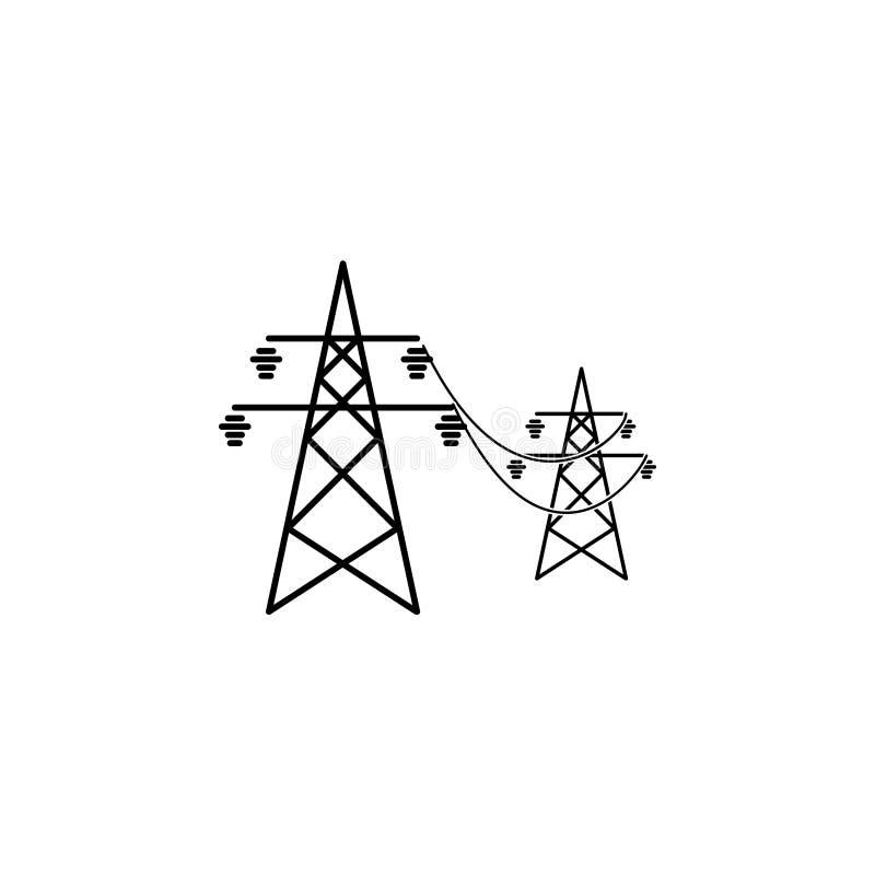 Símbolo do ícone das linhas elétricas ilustração royalty free