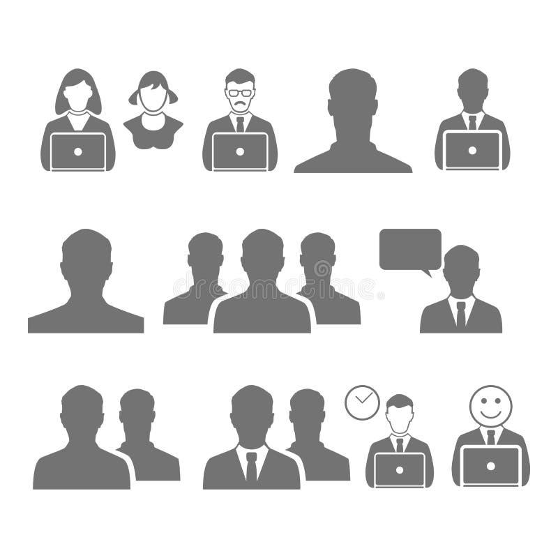 Símbolo do ícone do vetor do homem de negócio, escritório, uma comunicação fotografia de stock