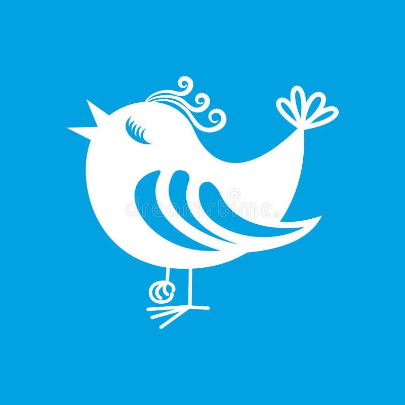 Símbolo do ícone do pássaro ilustração stock