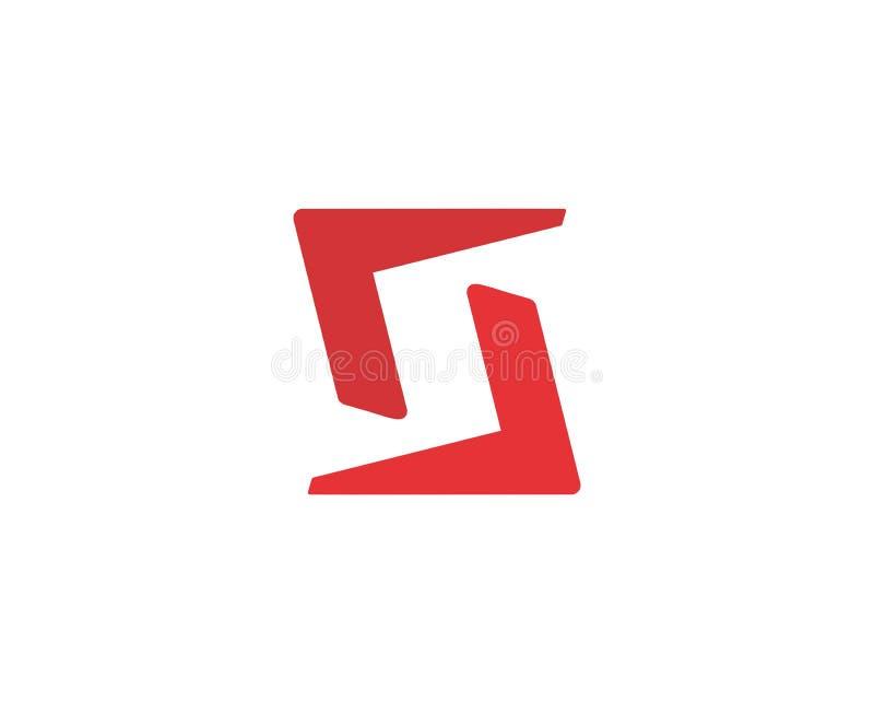Símbolo do alfabeto do ícone da letra S Sinal do vetor do projeto do ícone do logotipo da letra S ilustração royalty free