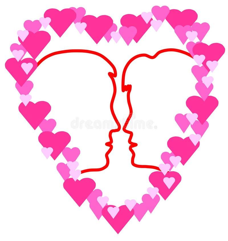símbolo do amor imagem de stock royalty free
