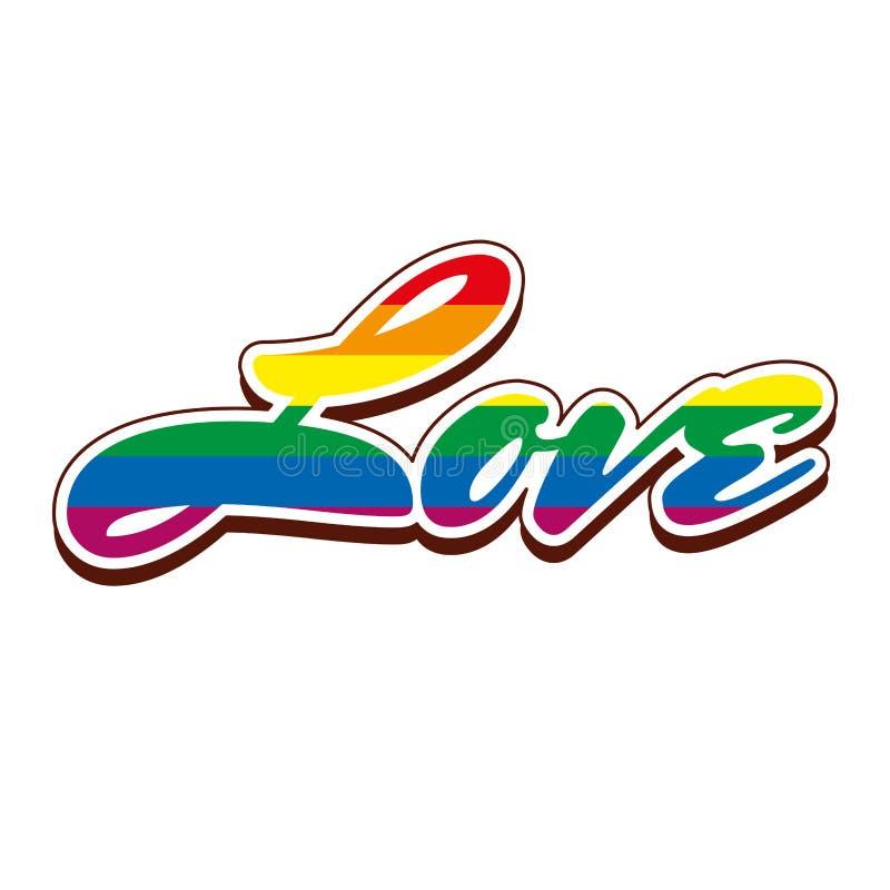Símbolo do arco-íris de LGBT ilustração royalty free