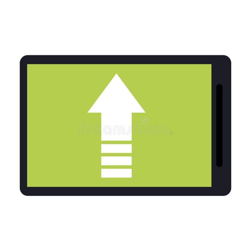 Símbolo do arquivo do carregamento de Smartphone ilustração royalty free