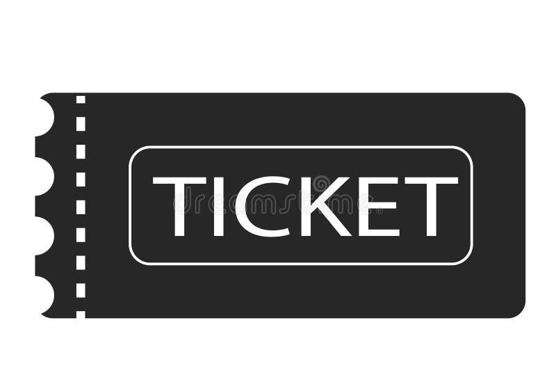 Símbolo do bilhete Ícone do bilhete no fundo branco Sinal do bilhete Estilo liso ilustração stock