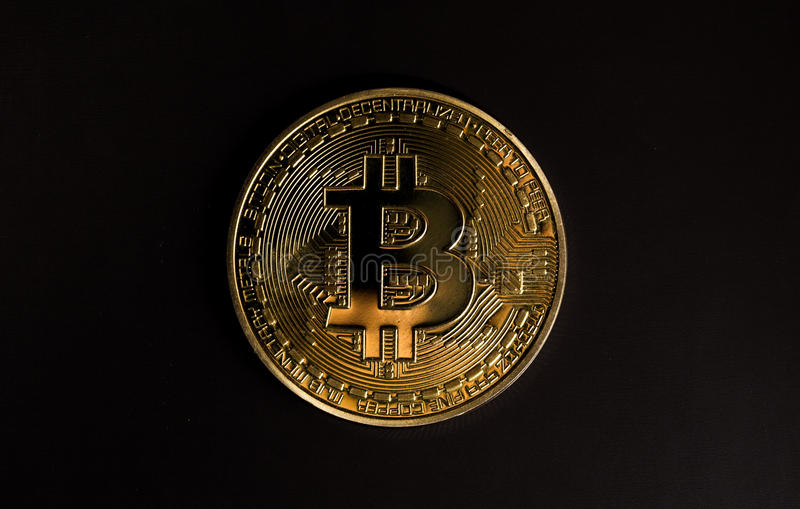 símbolo do bitcoin fotografia de stock