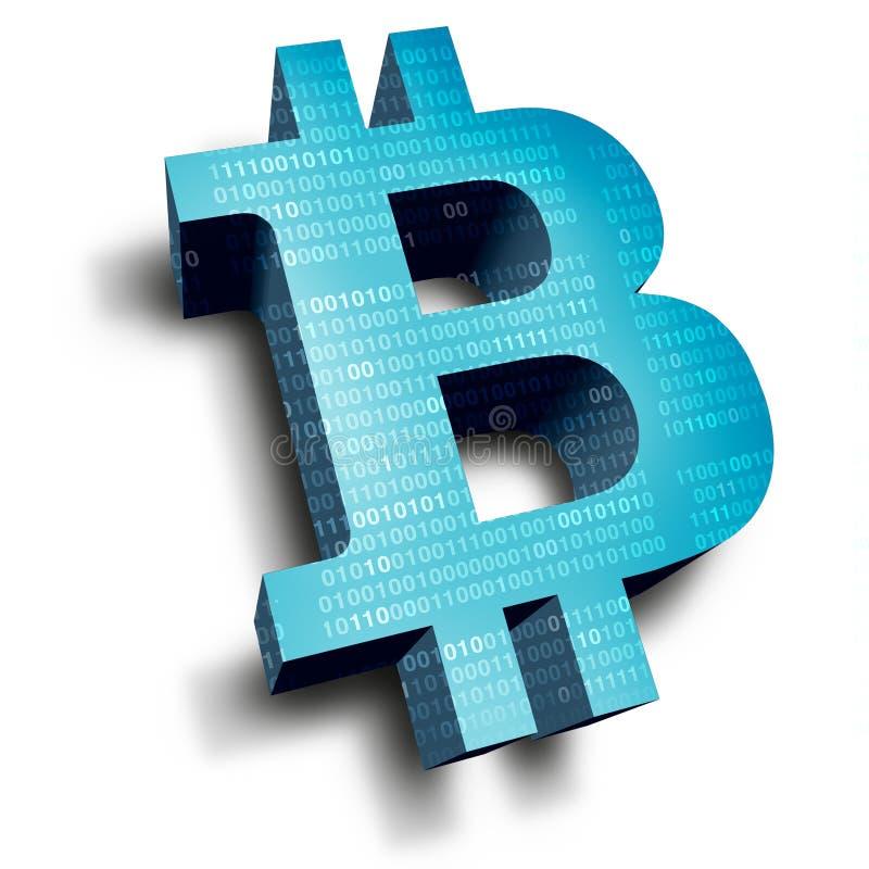símbolo do bitcoin ilustração royalty free