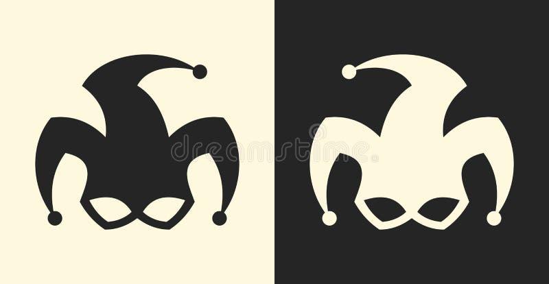 Símbolo do bobo da corte ou do palhaço Ícone do sinal do palhaço imagem de stock royalty free