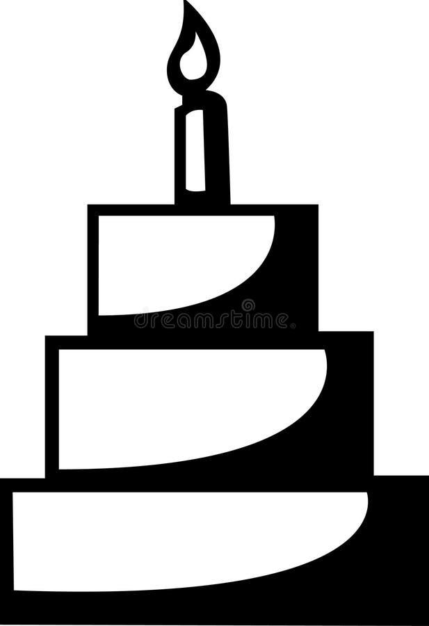 Símbolo do bolo ilustração royalty free