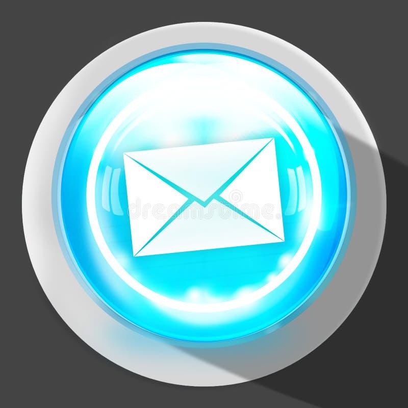 Símbolo do botão do ícone do contato ilustração royalty free