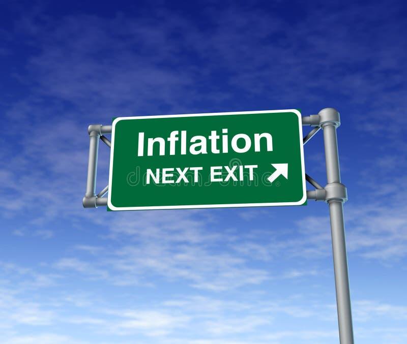 Símbolo do busiiness da ascensão dos preços da economia da inflação ilustração stock