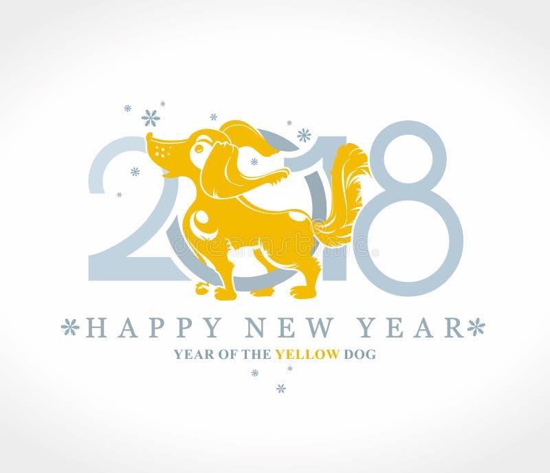 Símbolo 2018 do cão no calendário chinês ilustração do vetor