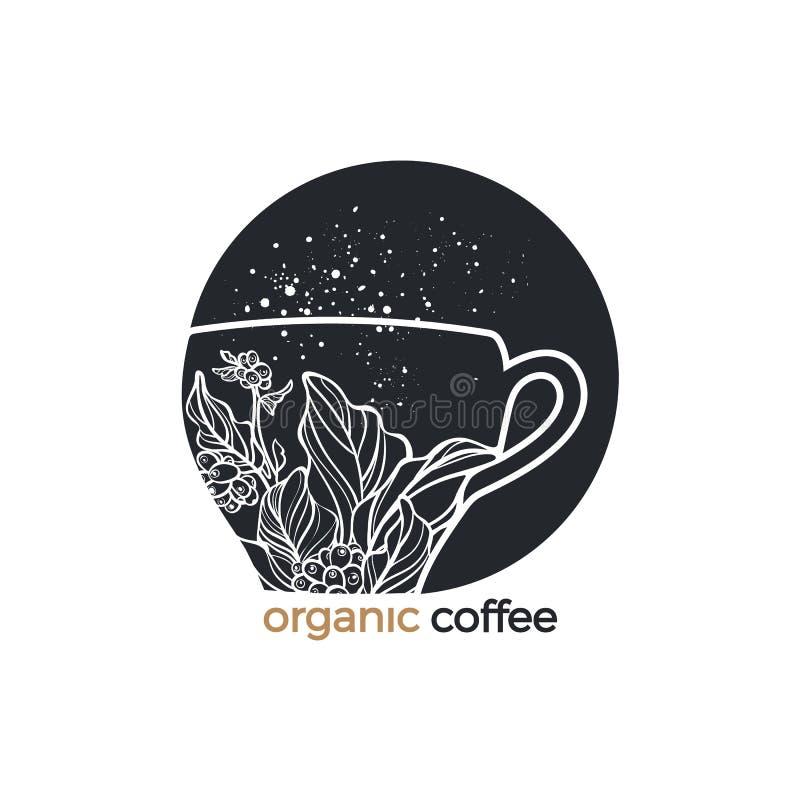 Símbolo do café do vetor Esboço da arte logo ilustração do vetor