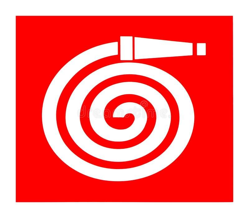 Símbolo do carretel da mangueira de fogo, sinal internacional ilustração stock