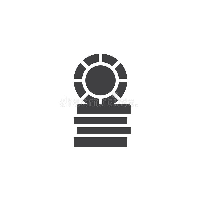 Símbolo do casino, vetor do ícone das microplaquetas de jogo ilustração royalty free