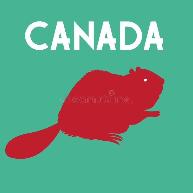 Símbolo do castor de Canadá ilustração do vetor