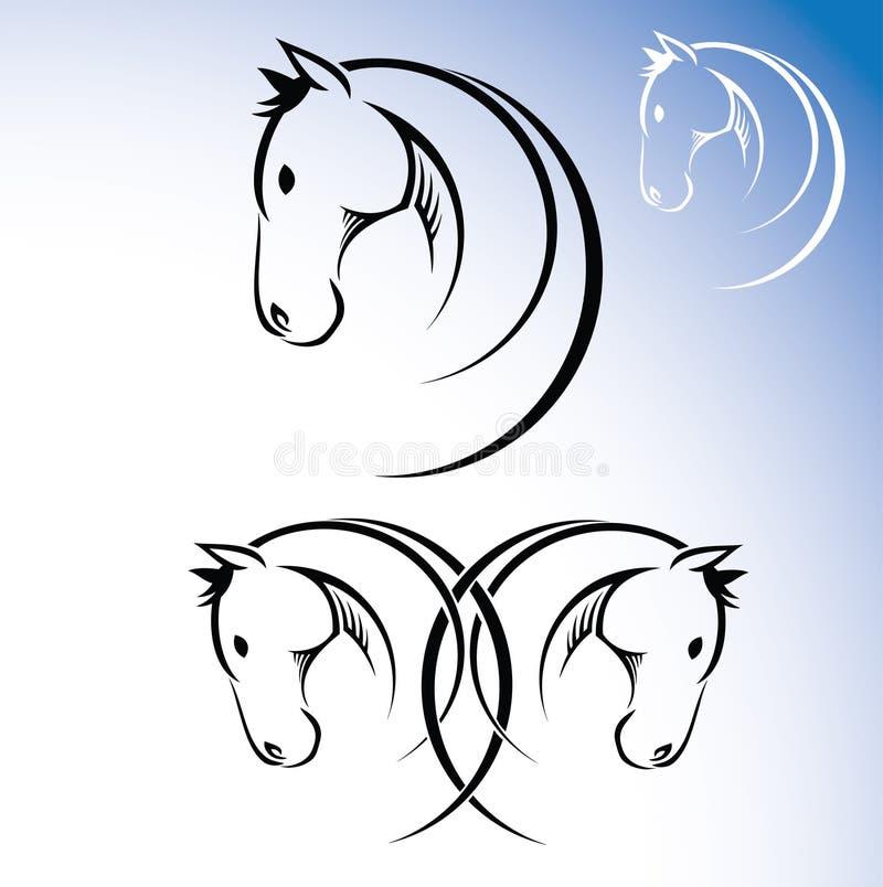 Símbolo do cavalo ilustração stock