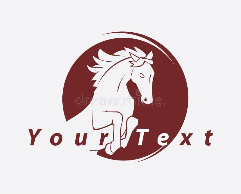 Símbolo do cavalo ilustração do vetor