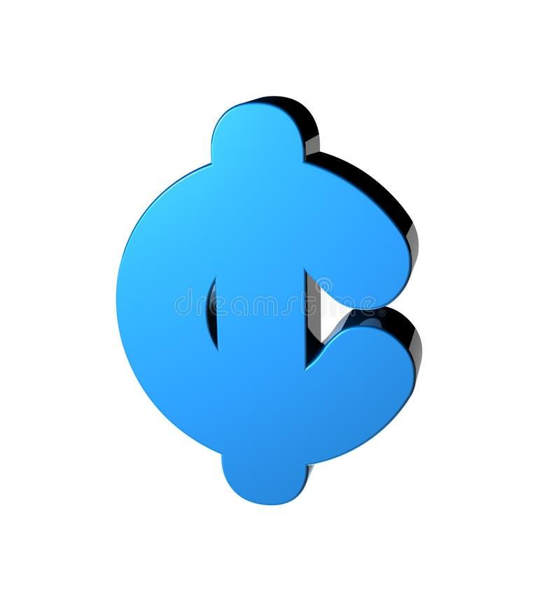Símbolo do centavo ilustração do vetor