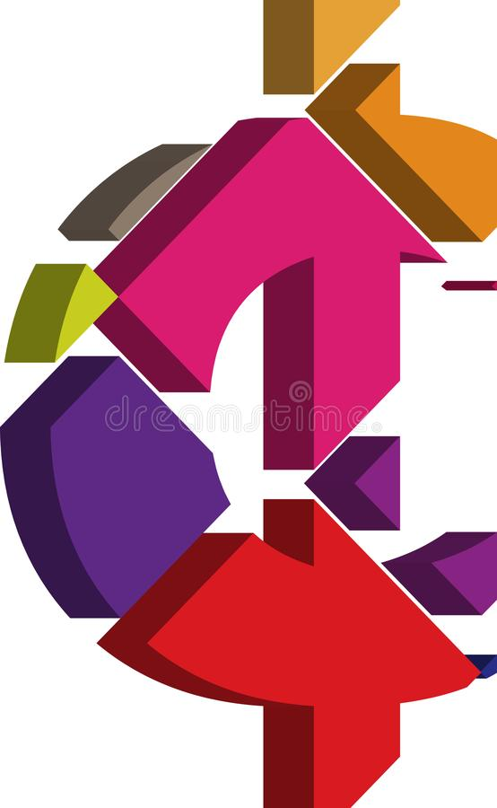 símbolo do centavo 3D ilustração stock