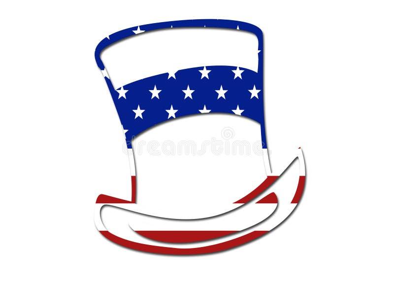 Símbolo do chapéu da bandeira dos E.U. ilustração royalty free
