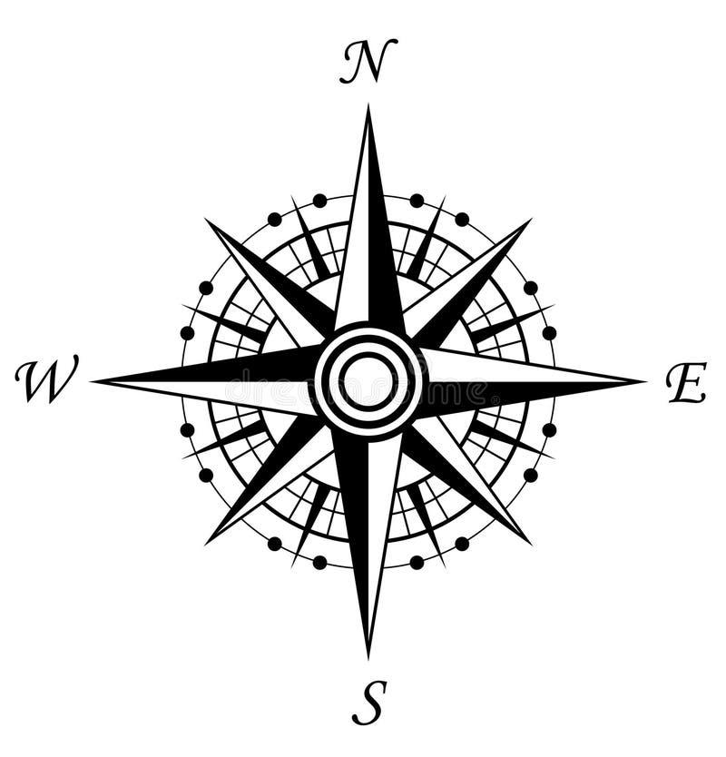 Símbolo do compasso ilustração royalty free