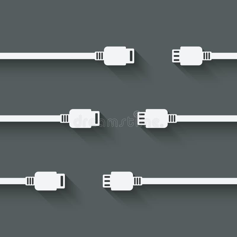 Símbolo do conceito da conexão ilustração stock