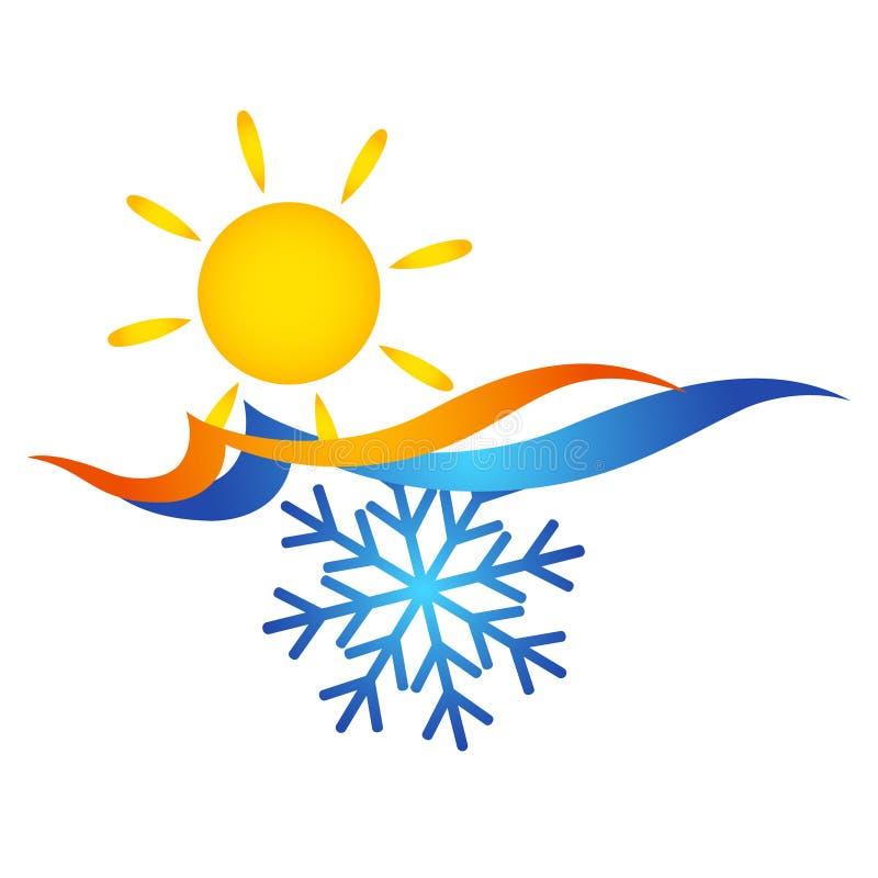 Símbolo do condicionamento de ar ilustração do vetor