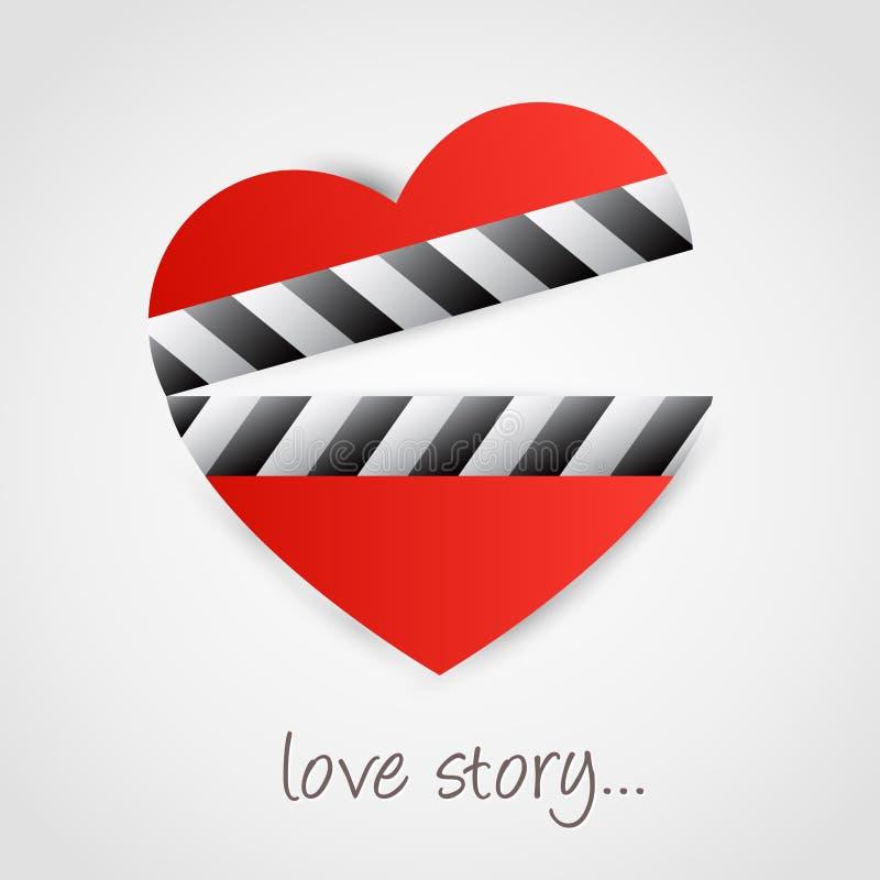 Símbolo do coração ilustração stock