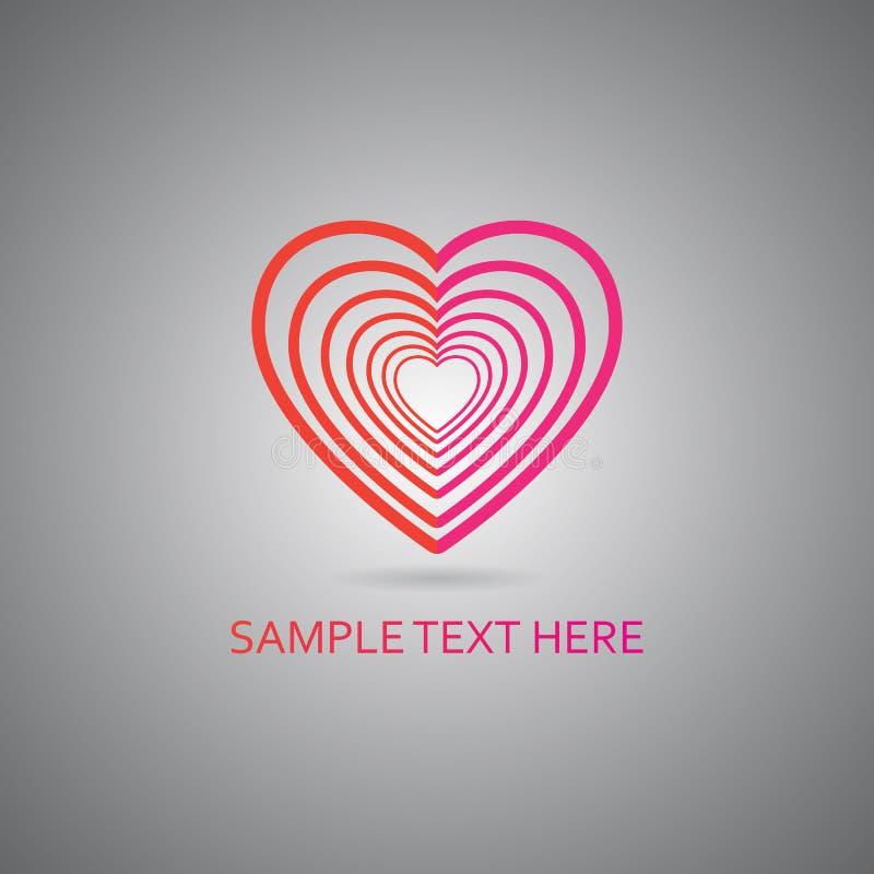 Símbolo do coração do vetor do Valentim imagens de stock royalty free