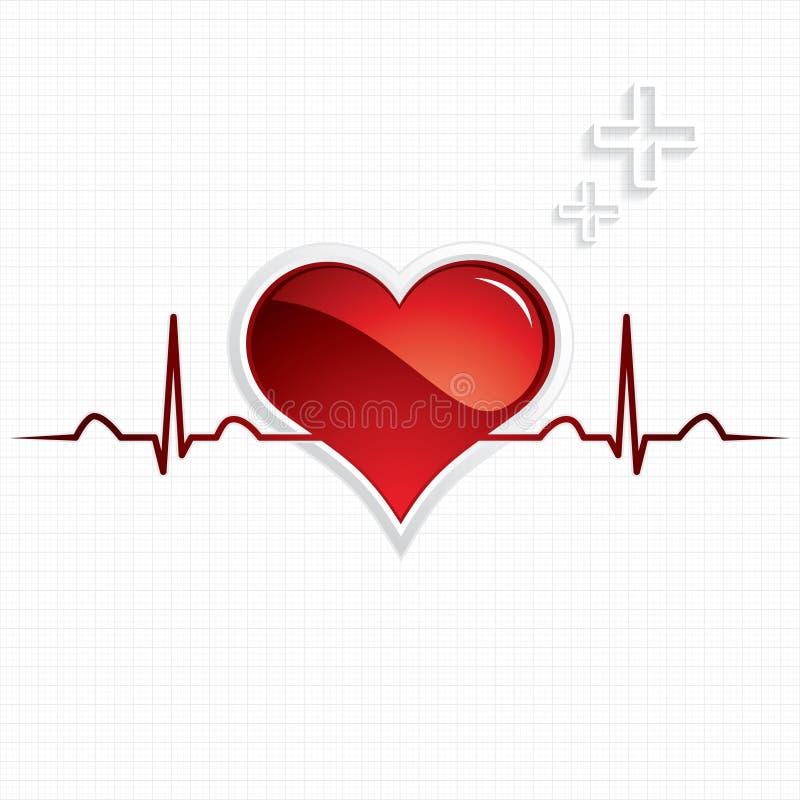 Download Símbolo Do Coração E Da Pulsação Do Coração Ilustração do Vetor - Ilustração de ritmo, paciente: 26507720