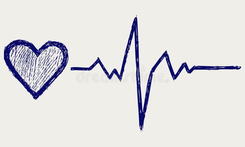 Download Símbolo Do Coração E Da Pulsação Do Coração Ilustração do Vetor - Ilustração de tração, projeto: 26513735