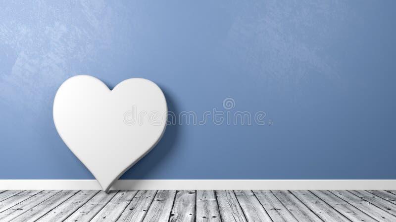 Símbolo do coração no assoalho de madeira ilustração stock